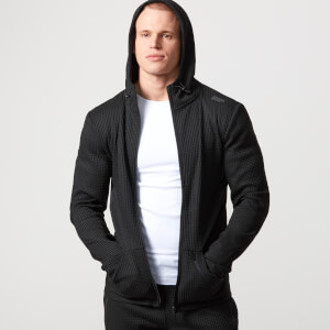 Luxe Reflect Zip-Up Hoodie