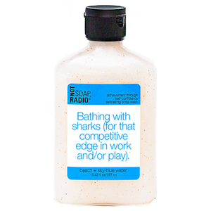 Not Soap Radio Bathing with sharks (for that competitive edge in work and/or play) Exfoliating Body Wash 397ml