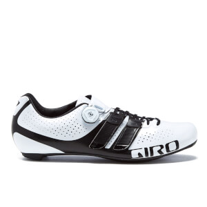 Giro Factor Techlace Road Cyling Shoes - White/Black