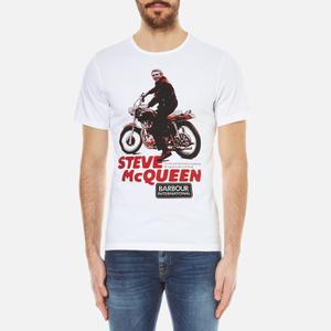 Barbour X Steve McQueen Men's Park T-Shirt - White