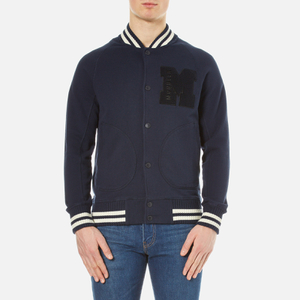 Barbour X Steve McQueen Men's Buddy Varsity Jacket - Navy