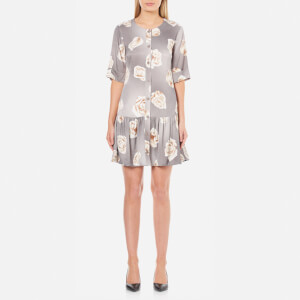 Boutique Moschino Women's Rose Print Dress - Grey