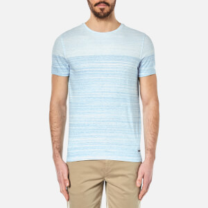 BOSS Orange Men's Trumble Striped T-Shirt - Bright Blue