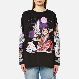 MM6 Maison Margiela Women's Cat Sweatshirt - Black Cat Print