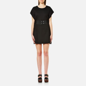 MM6 Maison Margiela Women's Elastic Waist Short T-Shirt Dress - Black