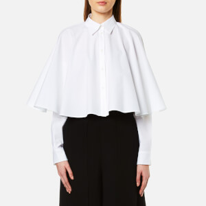 MM6 Maison Margiela Women's Cropped Cape Shirt - White