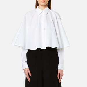 MM6 Maison Margiela Women's Cropped Cape Shirt - White