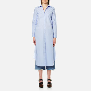 MM6 Maison Margiela Women's Long Shirt Dress - Shirt Blue