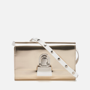 MM6 Maison Margiela Women's Fold Over Cross Body Bag - Platinum Gold