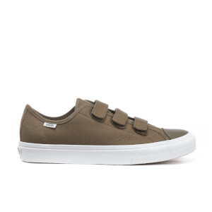 Vans Men's Prison Issue Canvas Triple Velcro Trainers - Walnut/True White