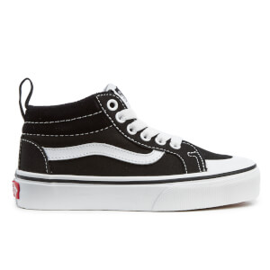 Vans Kids' Racer Mid Canvas Hi-Top Trainers - Black/True White
