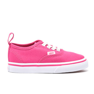 Vans Toddlers' Authentic Elastic Lace Trainers - Hot Pink/True White