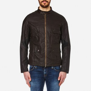 Barbour International Men's Chico Wax Jacket - Olive