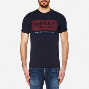 Barbour International Men's Logo T-Shirt - Navy