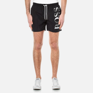 BOSS Hugo Boss Men's Octopus Swim Trunks - Black