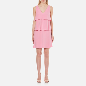 Boutique Moschino Women's Tiered Flared Dress - Pink
