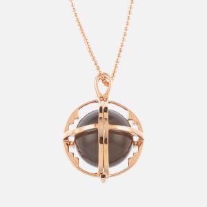 Kiki Minchin Women's The Roxy Cage Necklace - Grey Agate/Rose Gold