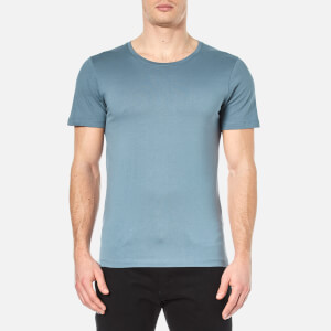 Selected Homme Men's Dave Pima Cotton Crew Neck T-Shirt - Blue Mirage