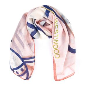 Vivienne Westwood Women's Mantero Silk Seersucker Scarf - Pink