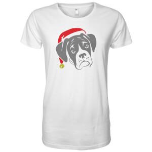 T-Shirt Carlin avec Chapeau de Noël - Blanc