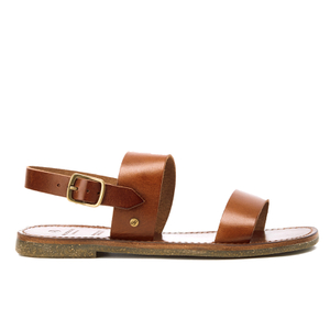 H Shoes by Hudson Women's Maiara Leather Two Part Sandals - Tan