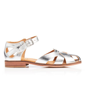 H Shoes by Hudson Women's Tilda Leather Sandals - Silver