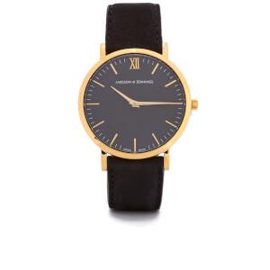 Larsson & Jennings Lugano 40mm Leather Watch - Gold/Black/Black