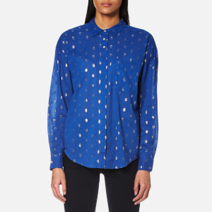 Maison Scotch Women's Long Sleeve Shirt - Blue