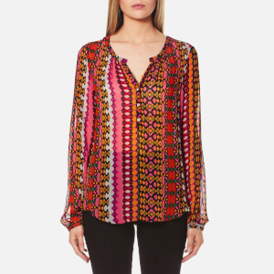 Maison Scotch Women's Sheer Tunic Top - Multi