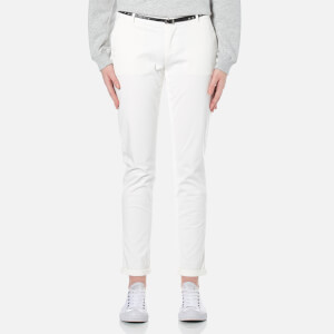 Maison Scotch Women's Slim Chino Pants with Belt - White