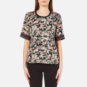 Maison Scotch Women's Silky Feel Top with Placement Prints - Multi