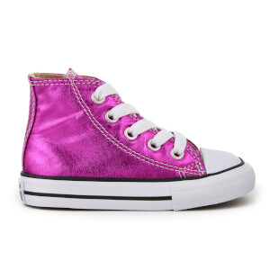 Converse Toddlers' Chuck Taylor All Star Hi-Top Trainers - Magenta Glow/Black/White