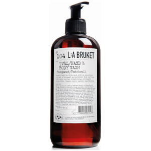 L:A BRUKET No. 104 Hand & Body Wash 450ml - Bergamot/Patchouli: Image 1