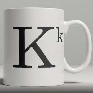Alphabet Keramik Designer Tasse - Buchstabe K