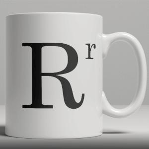 Alphabet Keramik Designer Tasse - Buchstabe R