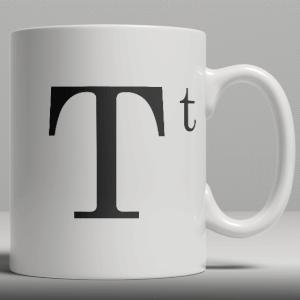 Alphabet Ceramic Mug - Letter T