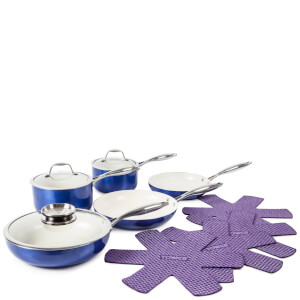 Tower 9 Piece Pro Metallic Pan Set - Blue
