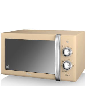Swan 800W Manual Microwave - Cream