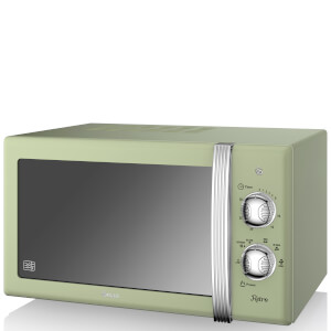 Swan 800W Manual Microwave - Green