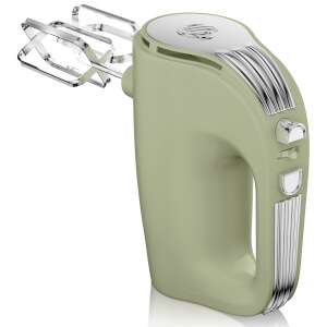 Swan SP20150GN Retro 5 Speed Hand Mixer - Green