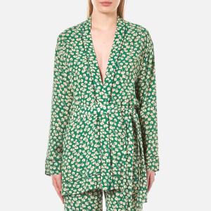 Ganni Women's Dalton Crepe Kimono - Green