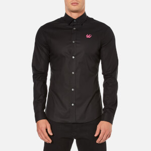 McQ Alexander McQueen Men's Harness Small Logo Long Sleeve Shirt - Optic