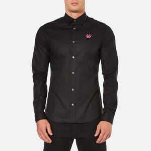 McQ Alexander McQueen Men's Harness Small Logo Long Sleeve Shirt - Optic