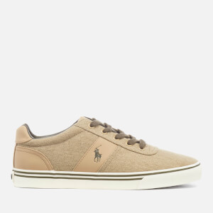 Polo Ralph Lauren Men's Hanford Vintage Cotton Vulcanised Trainers - Khaki
