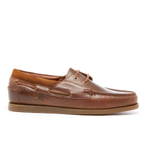 Polo Ralph Lauren Men's Dayne Leather Boat Shoes - Light Tan