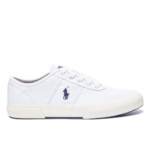 Polo Ralph Lauren Men's Tyrian Vulcanised Canvas Trainers - Pure White