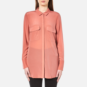 Gestuz Women's Vega Silk Shirt - Canyon Rose