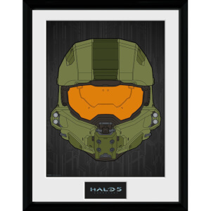 "Halo 5 Mask Framed Photographic - 16"""" x 12"""