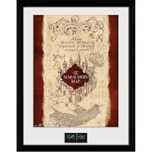 "Harry Potter Marauders Map Framed Photographic - 16"""" x 12"""