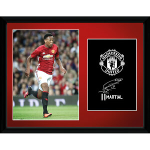 Manchester United Martial 16-17 Framed Photographic - 16